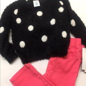 Infant Girls Winter Sweater Pants Set 12 Months